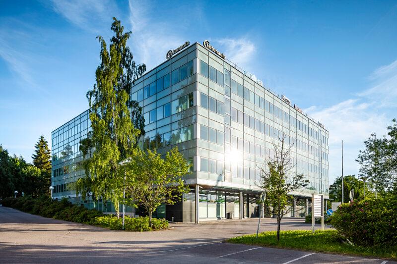 Sinihelmi Vuokrattavat toimitilat Espoo Julkisivu